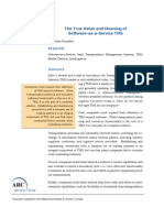 2009-10 the True Meaning and Value of Software-As-A-Service TMS