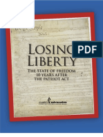 Losing Liberty the State of Freedom 10 Years After the PATRIOT Act