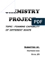 Foaming Capabilty of Soaps