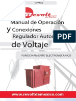 Manual de Operacion Reguladores de Voltaje