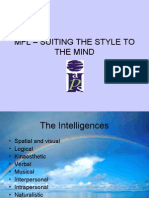 Suiting the style to the mind in MFL