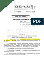 LEI Nº 11959-09 - Lei da Pesca e Aqüicultura