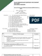 Minit Mesyuarat JPMS Kali Ke1 2011