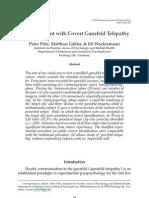 Peter Putz, Matthias Gaßler & Jirı Wackermann- An Experiment with Covert Ganzfeld Telepathy