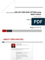 Determining Life Goal Using Math Tools