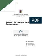 Avance de Informe Gestión por Competencias