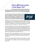 Limited RBI Intervention to Stem Rupee Fall-VRK100-13Jan2012