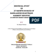 Export Growth Sources of Bangladesh RMG