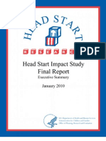 US Health & Human Services (HHS) Headstart Review--Executive Summary Final (2010)
