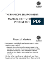 Financial Environment (Markets, Institutions & Interest Rate)