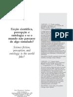 Ciro Flamarion - Ficção científica e percepção ontológica
