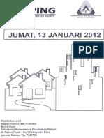 Scan Kliping Berita Perumahan Rakyat 13 Januari 2012