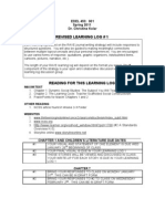 453 in Class Learning Log 1