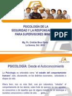 PSICOLOGÍA DE LA SEGURIDAD Y LA RESPONSABILIDAD PARA SUPERVISORES MINEROS