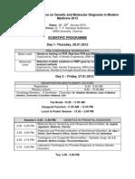 Scientific Programme 2012
