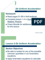 Lesson 2-2b Uniform Acceleration (1)