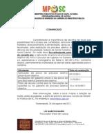 1º comunicado - alteração data prova preambular