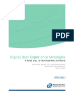 Digital User Experience Strategies - A Road Map for the Post-Web 2.0 World