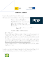 Cartel Informativo Taller Empleo Dinamizacion de Servicios ion y Atencion Ciudadana