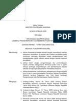 Permen 06 2009 Tentang Organisasi Dan Tata Kerja Lembaga an Dan Pemberdayaan Kepala Sekolah 2