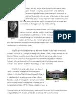 Frank Lloyd Wright Essay
