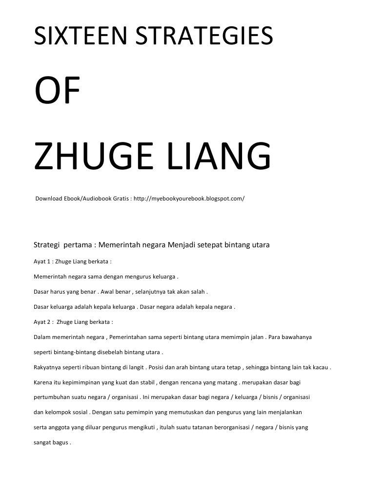 Kata Bijak Zhuge Liang Kumpulan Kata