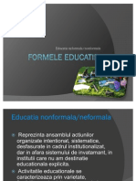 Formele Educatiei Educatia Non Formal A