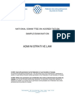 2009 Ex Administrative Law