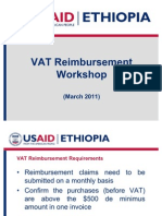 VAT Reimbursment Workshop