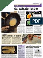 L'or Vient de l'Espace - Le Parisien - 12 janvier 2012