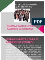 NORMAS BÁSICAS PARA EL AMBIENTE DE CONTROL EXPO