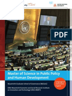 M.Sc. Public Policy and Human Development