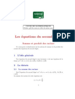 Mathematiques Premiere Equations Degre 2 Somme Produit