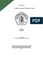 Koagulopati Dan Transfusi Komponen Darah Pada Trauma