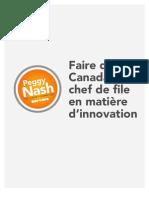 Faire du Canada un chef de file en matière d'innovation