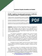 """El GPP, """"orgulloso"""" de poder aportar personas """"cualificadas y de relevancia política"""" al Gobierno de la Nación"""