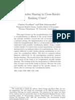 Fiscal Burden Sharing in Cross Border Banking Crises