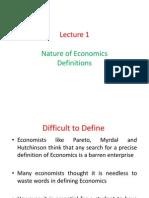 defination of economics