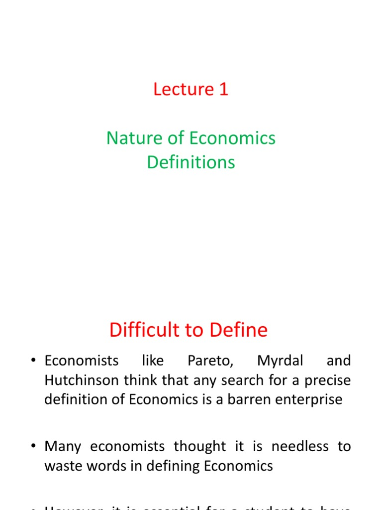 Defination Of Economics   Microeconomics   Economics
