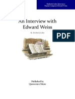 An Interview with Pianist/Composer Edward Weiss