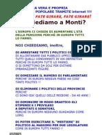 Cosa Chiediamo a Monti - Anna Giberti