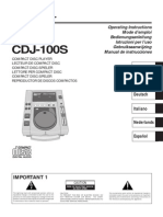 Cdj-100s Manual en Fr de Nl It Es