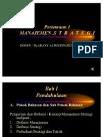 Presentasi Manajemen Strategi Pertemuan 1