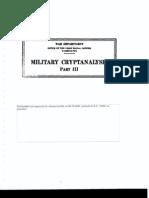 Military Crypt Analysis
