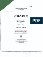 61540143 Frederic Chopin Alfred Cortot Edition de Travail 24 Preludes