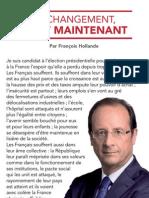 La Lettre Aux Francais de Francois Hollande