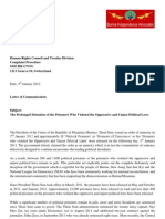Letter of Communication to UNHRC