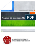 Analisis de Denticion Mixta Moyers