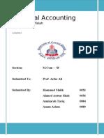 Project of Accounting - Bank Alfalah