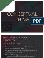 Conceptual Phase